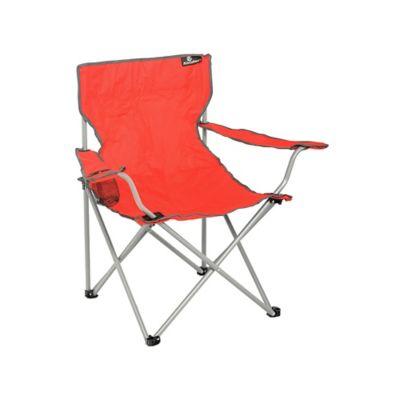 Silla camping roja con apoya brazos
