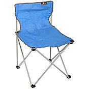 Silla plegable para camping azul