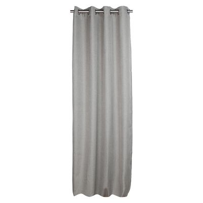 Set 2 cortinas Lucca grafito 140x250cm.