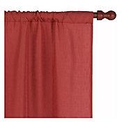 Set de cortinas terracota con velo 145x220 cm