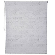 Persiana enrollable b/out letras 150x250 cm