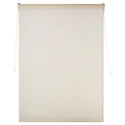 Persiana enrollable doble blackout y lino 160x165 cm