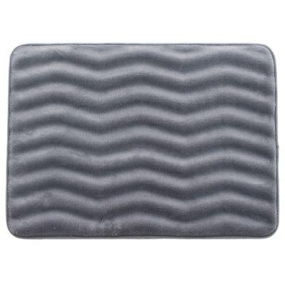 Tapete de baño Zigzag grafito 43x61 cm