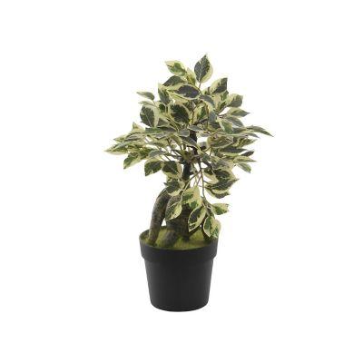 Mini Ficus planta artificial 20 x 29 cm