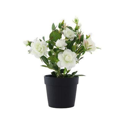 Rosa mini planta artificial 27 cm