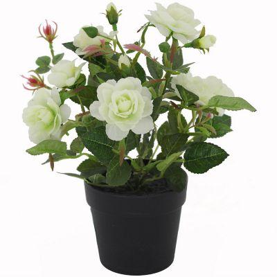 Rosa lila planta artificial 21 x 28 cm