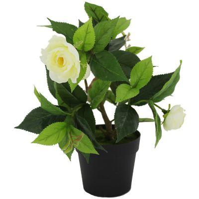Planta artificial camelia blanca 22 x 17 cm