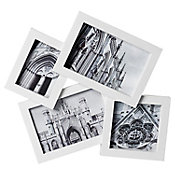 Marco de foto blanco 2x9x14 cm + 7x9 cm + 9x9 cm
