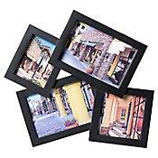 Marco de foto negro 2x9x14 cm + 7x9 cm + 9x9 cm