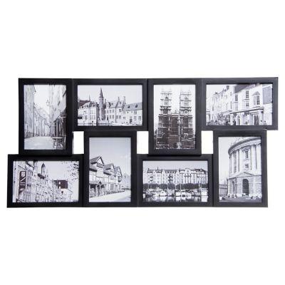 Marco de fotos negro 8x9x14 cm