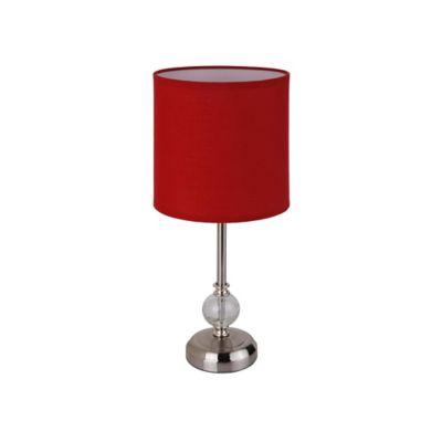 Lámpara mesa Firenze rojo 1luz E27 metal 40cm