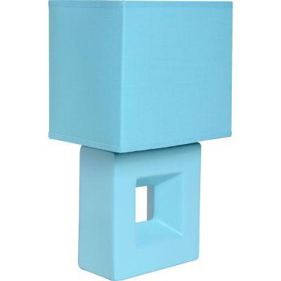Lámpara buró Quad azul E27 infantil cerámica 30cm