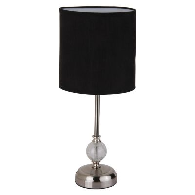 Lámpara mesa Firenze negro 1luz E27 metal 40cm