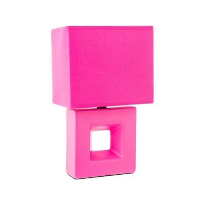 Lámpara buró Quad Rosa E27 infantil cerámica 30cm