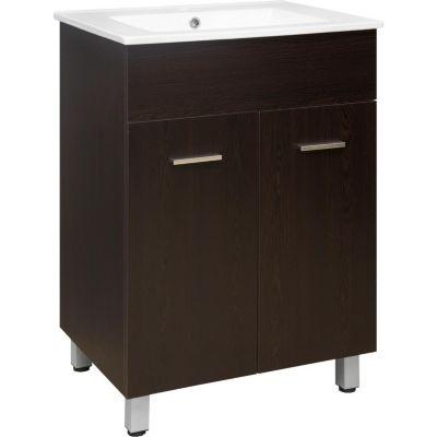 Mueble de baño Abrantes blanco wengué