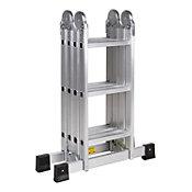 Escalera multiuso de aluminio 12 peldaños