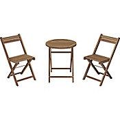 Juego de balcón Catania de madera acacia 3 piezas