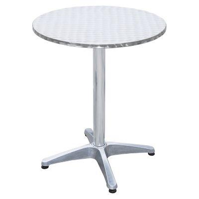 Mesa de aluminio redonda de 60x72cm con 4 patas