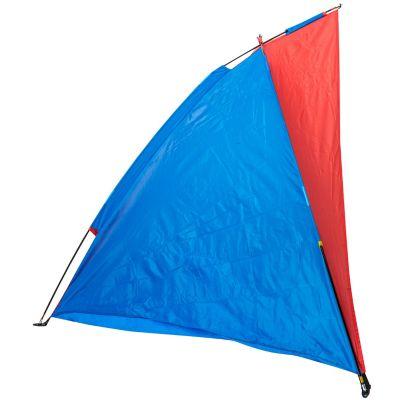Paraviento de playa azul con rojo klimber