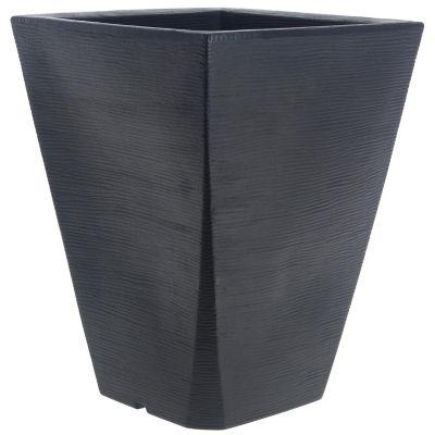 Maceta trapecio grafito negro