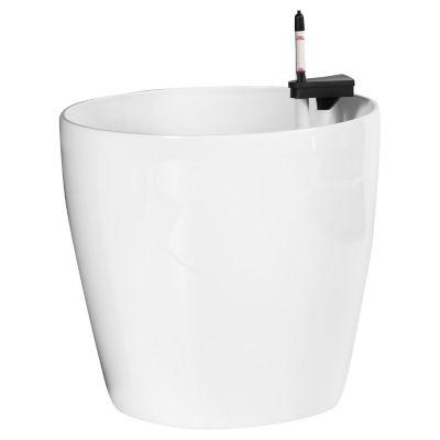 Maceta autorriego clásico 45 x 42 cm blanca