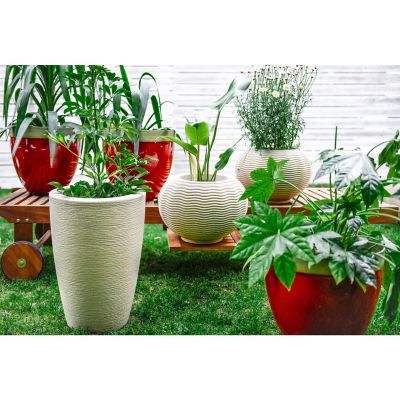 Maceta cónica 48 x 34 cm granito