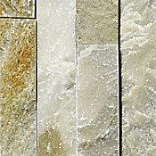 Piso cerámico piedra mosaico natural 60x15 cm