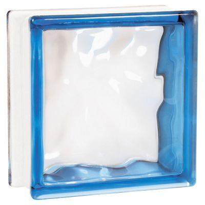 Bloque vidrio cloudy blue 19 cm x 19 cm x 8 cm