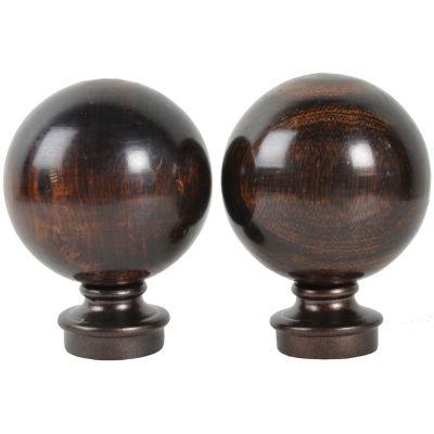 Set 2 terminales Bola tipo madera