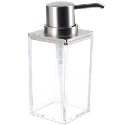 Dispensador de jabón Clarity acrílico cromo