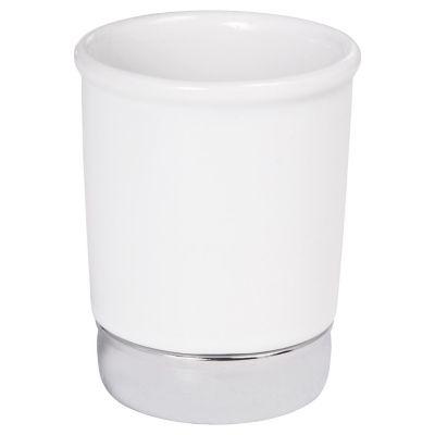Vaso de baño York blanco cromo