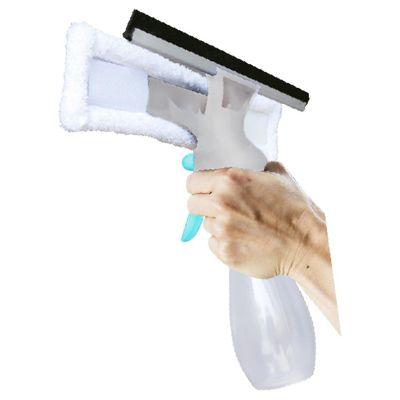 Limpia ventanas con roceador y fibra de 25 cm