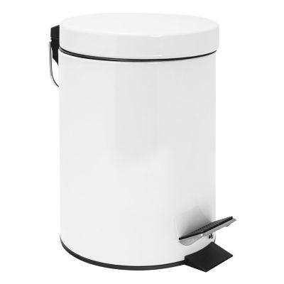 Bote de basura con pedal blanco 3 L
