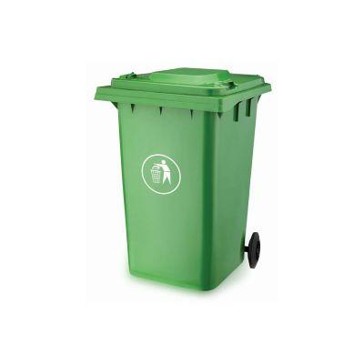 Contenedor de basura con tapa y ruedas 360 L