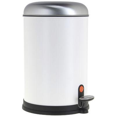 Bote de basura con pedal blanco 12 L