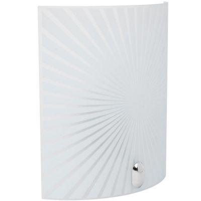 Arbotante Ray 60W blanco 1luz E27 vidrio 20cm