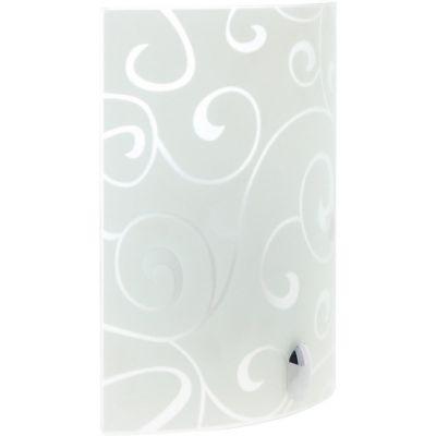 Arbotante Olas 60W blanco 1luz E27 vidrio 20cm