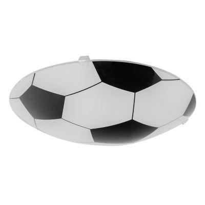 Plafon 60W Soccer blanco 1luz E27 vidrio 25cm