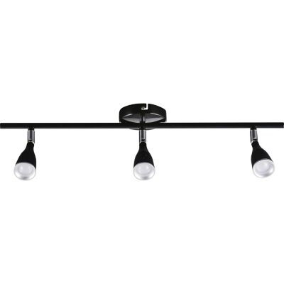 Barra Novo led 3luces negro 13.5W cálida 860lm metal