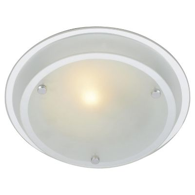 Plafon 60W Herb blanco 1luz E27 vidrio 25cm