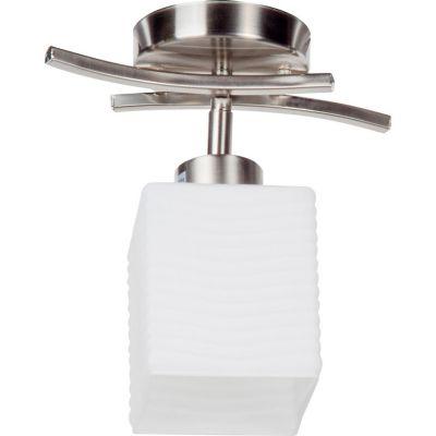 Lámpara techo 60W Asturias plata 1luz E27 metal 25cm
