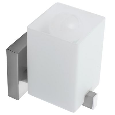 Arbotante cubo 60W plata 1luz E27 metal 15cm