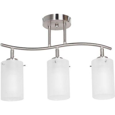 Lámpara techo 60W plata 3luces E27 metal 30cm