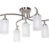Lámpara techo 60W plata E27 metal 30cm