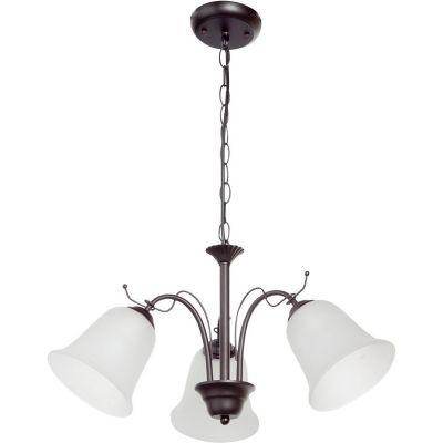 Lámpara colgante 60W Egipto plata 3luces E27 metal 30cm