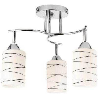 Lámpara techo 60W Lugo blanco 3luces E27 metal 35cm