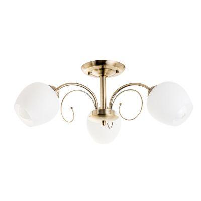 Lámpara Techo 60W Valencia cobre 3luces E27 metal 25cm