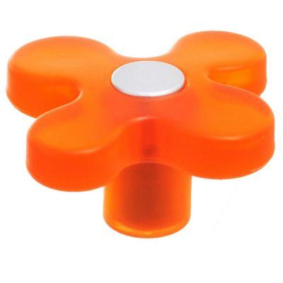 Perilla en forma de flor naranja cromo mate