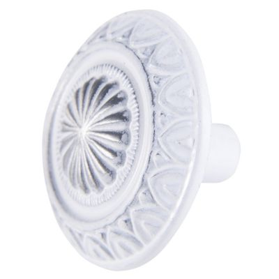 Jaladera de 34 mm plata con patina blanca