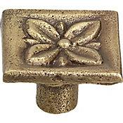 Jaladera Flor 26 mm cuero mate